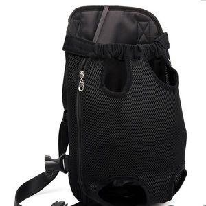 Pet (cat/dog) black open backpack